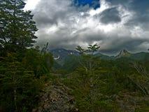 Landskap i Calbucos vulcano för utbrott Fotografering för Bildbyråer
