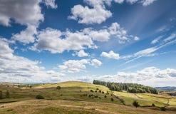 Landskap i Cumbria, UK Arkivbilder