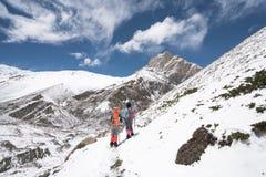 Landskap i den Annapurna strömkretsen Royaltyfri Fotografi
