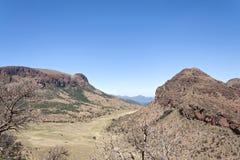 Landskap i den Marakele nationalparken, Sydafrika Arkivfoto