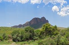 Landskap i den Marakele nationalparken, Sydafrika Arkivbild