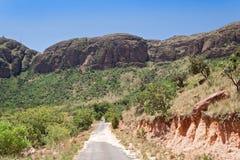 Landskap i den Marakele nationalparken, Sydafrika Arkivbilder