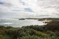 Landskap i den stora havvägen Melbourne royaltyfri fotografi