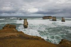 Landskap i den stora havvägen Melbourne arkivfoton