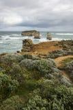 Landskap i den stora havvägen Melbourne royaltyfria bilder