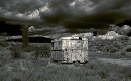 Landskap i enapokalyptisk stil. Arkivbild