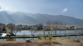 Landskap i forntida stad för dali royaltyfri foto