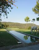 Landskap i Girona royaltyfria foton