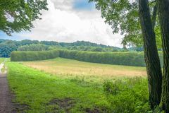 Landskap i godset Mariendaal i Arnhem, Nederländerna Arkivfoto