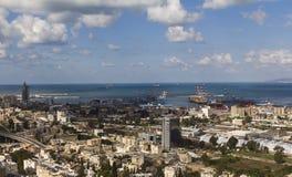 Landskap i Haifa Arkivfoto