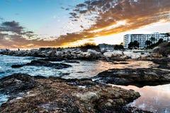 Landskap i Ibiza Arkivfoto