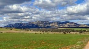 Landskap i landskap av Albacete, Spanien Royaltyfria Bilder