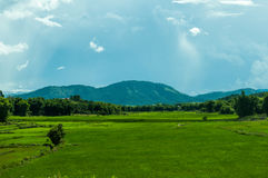 Landskap i Laos Royaltyfri Bild