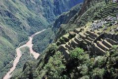 Landskap i Machu Picchu i Peru, royaltyfri fotografi