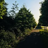 Landskap i milton keynes royaltyfria bilder