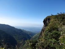Landskap i nationalparken Horton Plains, Sri Lanka arkivfoton