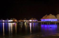 Landskap i natten Arkivfoto