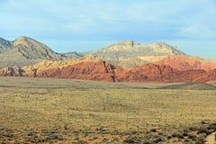 Landskap i rött vaggar kanjonen, Nevada arkivfoton