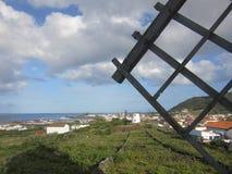 Landskap i Santa Cruz da Graciosa, Azores, Portugal Arkivfoton