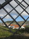 Landskap i Santa Cruz da Graciosa, Azores, Portugal Royaltyfri Foto