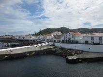Landskap i Santa Cruz da Graciosa, Azores, Portugal Royaltyfri Fotografi