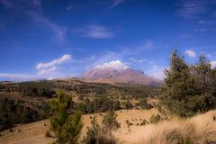 Landskap i skönhetvulkorna av Mexico Arkivfoto