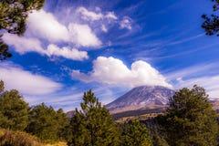 Landskap i skönhetvulkorna av Mexico Fotografering för Bildbyråer