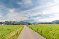Landskap i sydlig Tyskland Royaltyfri Bild