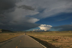 Landskap i Tibet, Kina Royaltyfri Bild