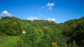Landskap i Urbino Arkivfoto