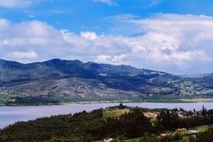 Landskap i utkanten av Bogota royaltyfri bild