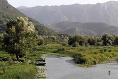 Landskap i Virpazar Royaltyfria Bilder