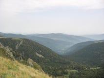 Landskap i Vosgesna och Ballon d'Alsace Royaltyfri Fotografi