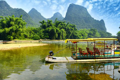 Landskap i Yangshuo Guilin Arkivfoton