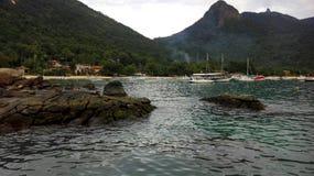 Landskap Ilha stora - Rio de Janeiro - Brasilien Arkivfoto
