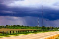 Landskap Illinois för vårregn Royaltyfri Foto