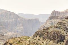 Landskap Jebel Akhdar Oman Royaltyfri Fotografi