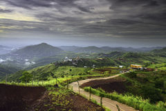 Landskap Khao Kho Thailand Arkivbild