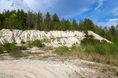 Landskap kolgruva Sokolov, Tjeckien Royaltyfri Bild