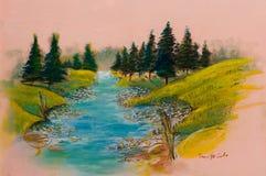 Landskap - konstprodukten Royaltyfria Foton