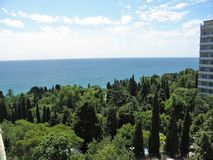 Landskap Krim Ukraina royaltyfri bild