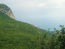 Landskap Krim Ukraina royaltyfria bilder