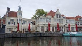 Landskap längs Rhinet River från Nederländerna i Amsterdam Arkivfoto