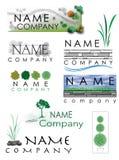 Landskap logo Fotografering för Bildbyråer