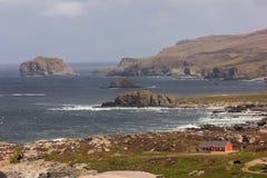 Landskap Malin huvud Inishowen Ståndsmässiga Donegal ireland arkivbilder