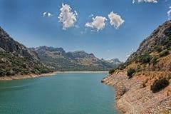 Landskap Mallorca Sjö de Gorg Blau Royaltyfri Fotografi