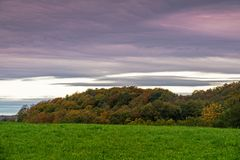 Landskap med Autumn Colors Arkivfoton