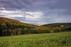 Landskap med Autumn Colors Arkivfoto