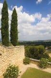 Landskap i regionen av Luberon, Frankrike Arkivbilder