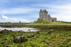 Landskap med den Dunguaire slotten Irland royaltyfria bilder